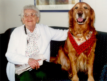 Woman-and-Retriever